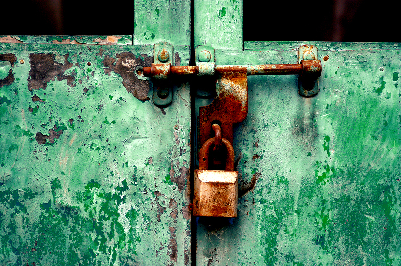 Locked into the deep green