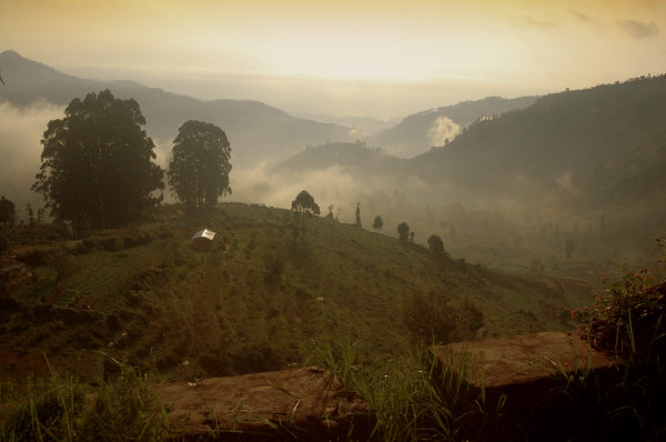 Morning across the Kodai Valley