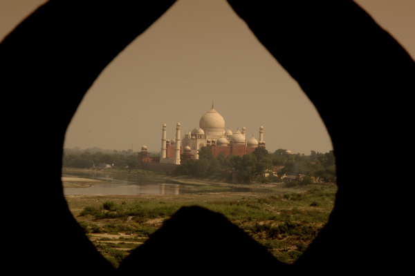 Taj through the 3 inch hole!