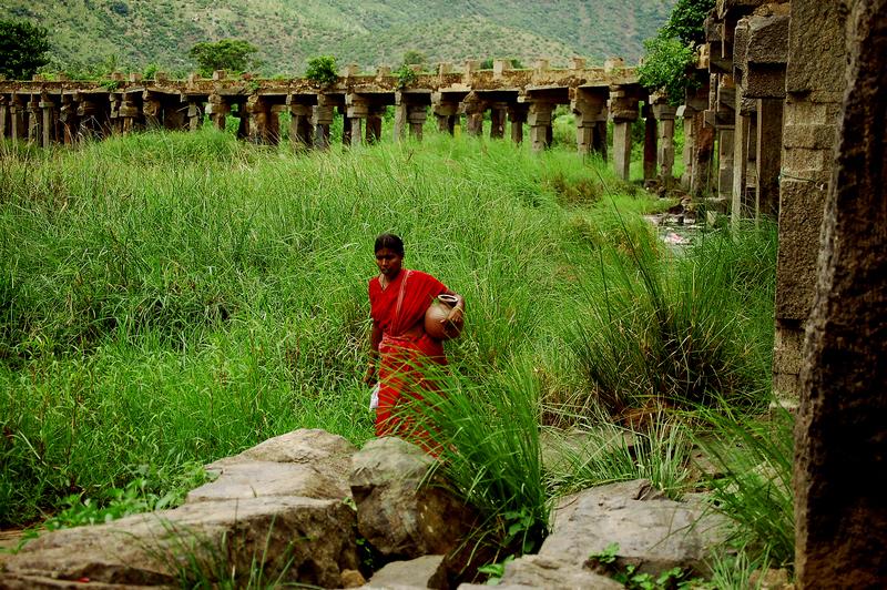 Beneath the Shivanasamudram bridge