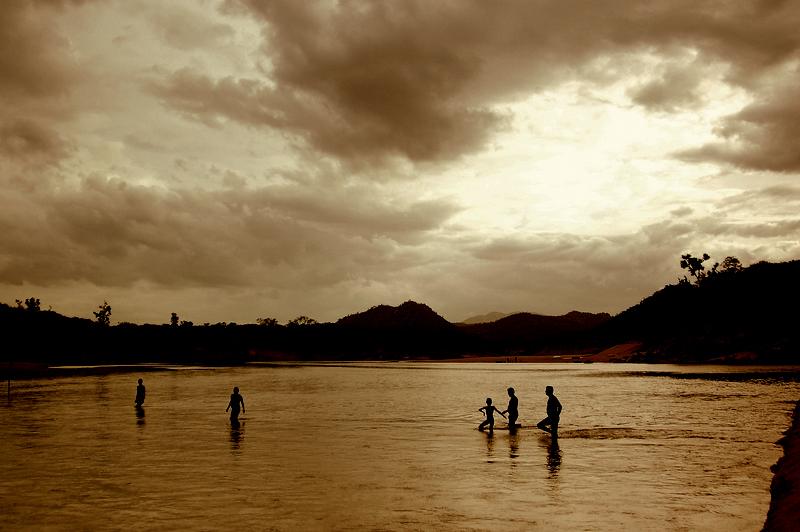 Evening dip at Cauvery!