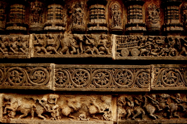 Exquisite detailing on the temple walls