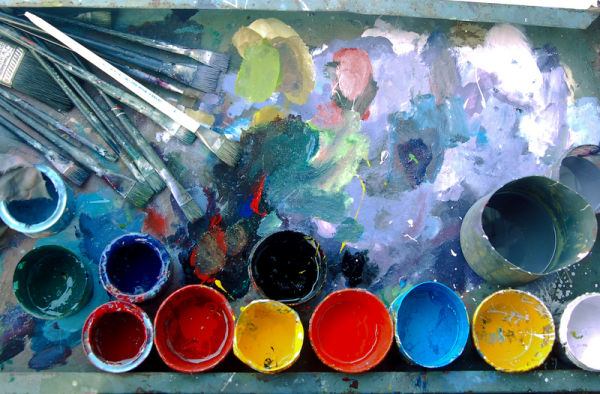 Pallette of a city's painter