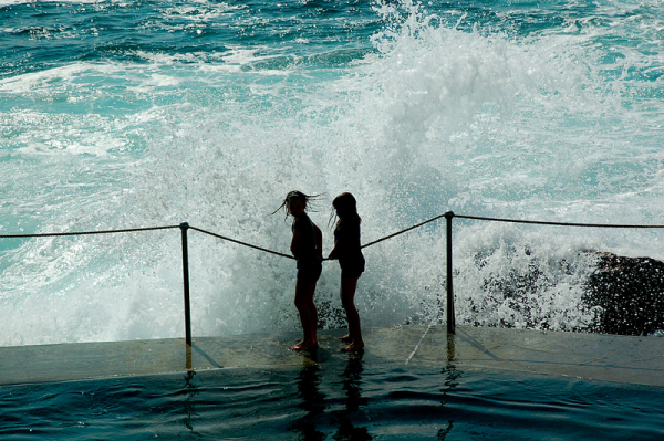 Splashin' up at Bronte!