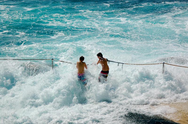 The big splash at the infinity pool