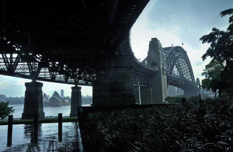 From beneath the bridge