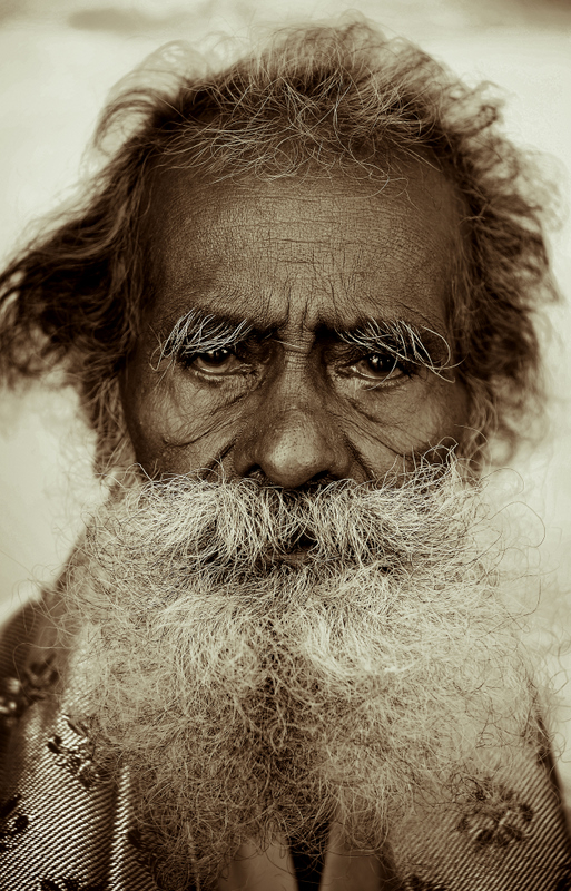 The intense old man