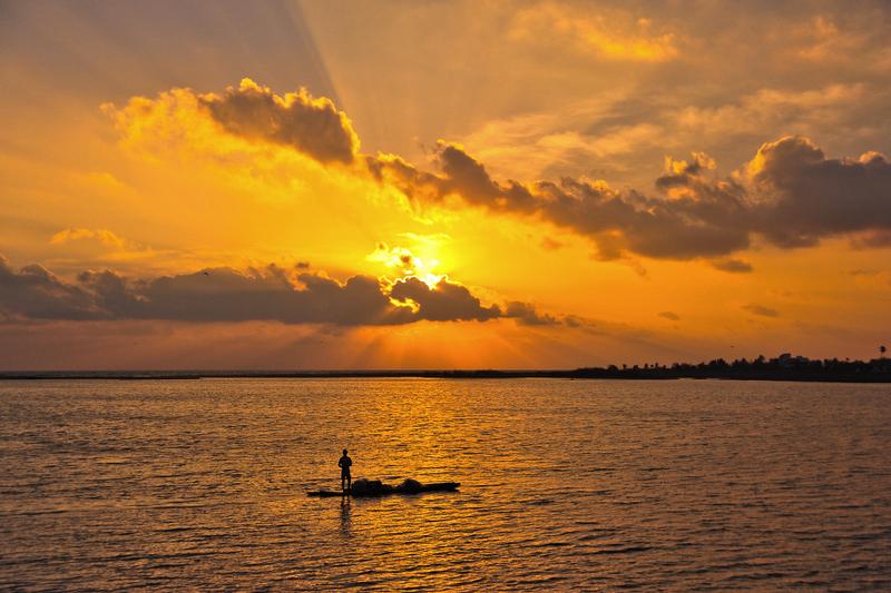 Morning light beckons as the sun rises