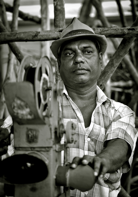 Man behind the moving talkies