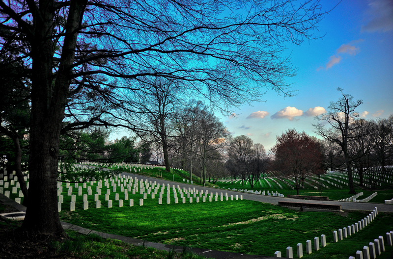 Where the soldiers rest in peace