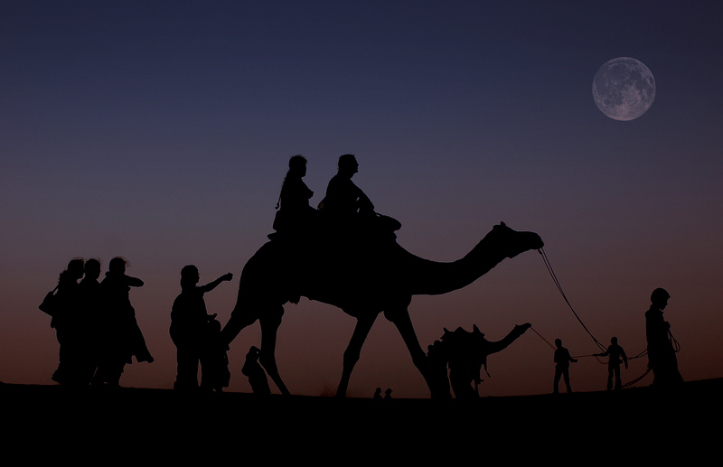 Full moon at the Great Indian Desert