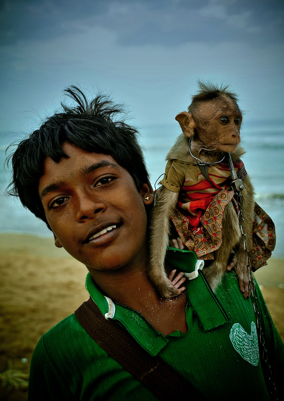 Maula and his monkey