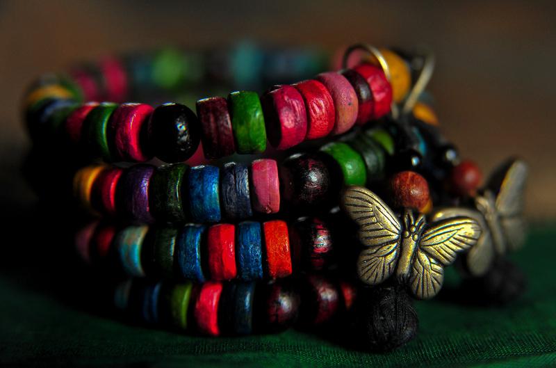 Butterflies on the bracelet