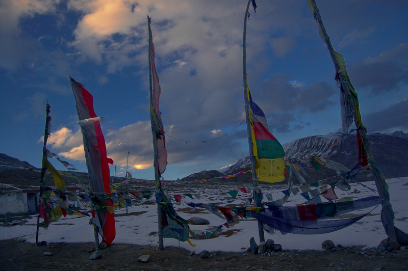 After the sun set at Kunzum La