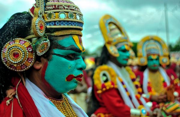 Colours of the Kathakali Dancers