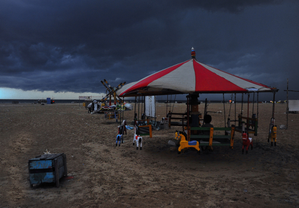 Just about to rain at the beach!