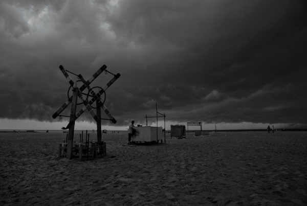Moody evening at the Beach