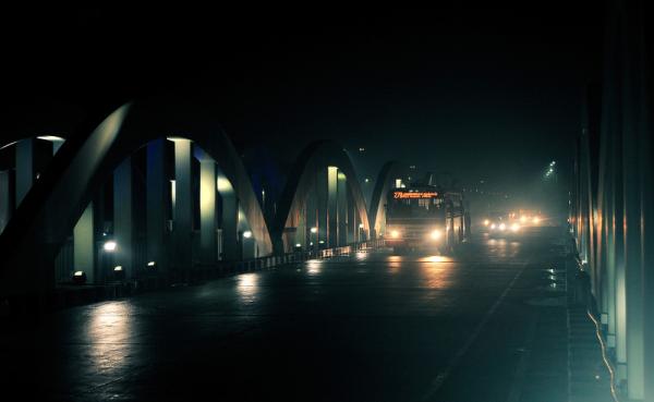 Fog, Lights and the Bridge
