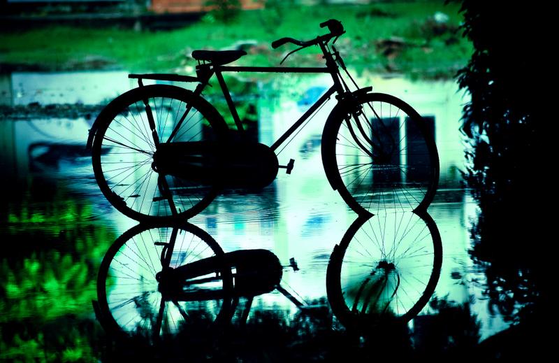 Cycling through the rainy Chennai