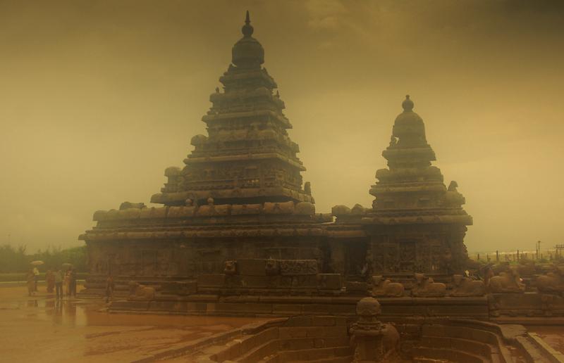 Monsoon strikes the Pallavan beauty