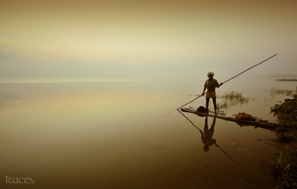 Reflections of the fishermen