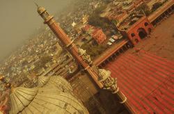 Floating on top of Old Delhi