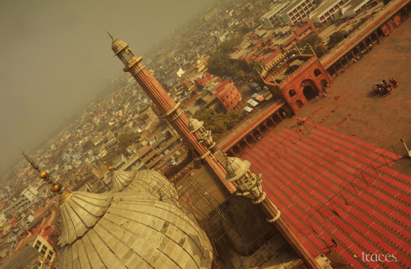 Floating on top of Old Delhi