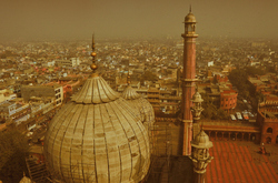 On top of Old Delhi