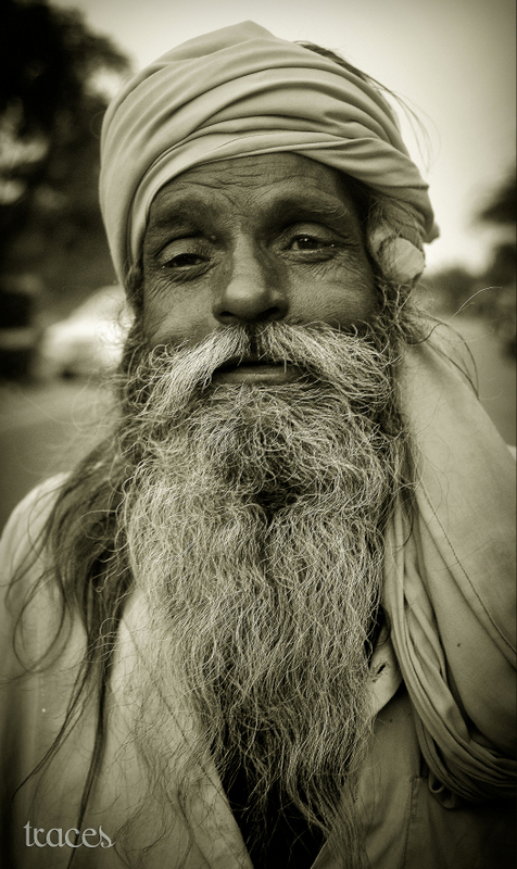 A Sadhu on a high...