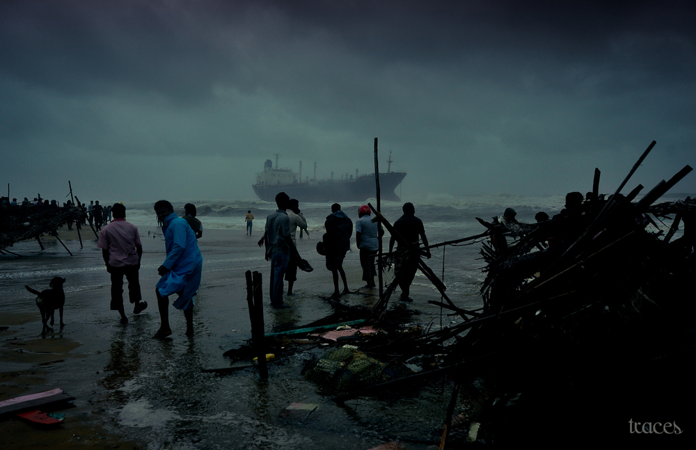 During the cyclone Nilam!