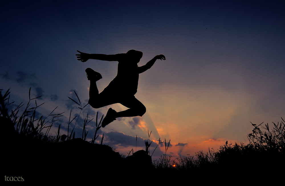 The leap against the sunset!