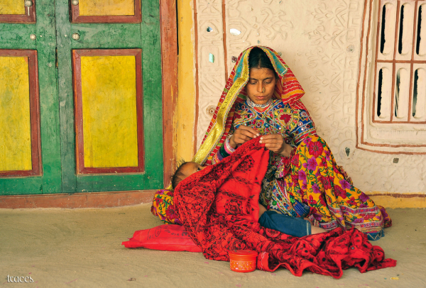 The kutch women at work!