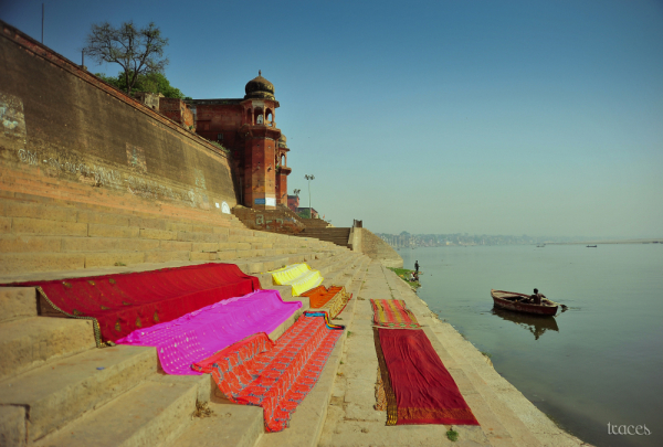 Morning on the ghats of Varanasi!