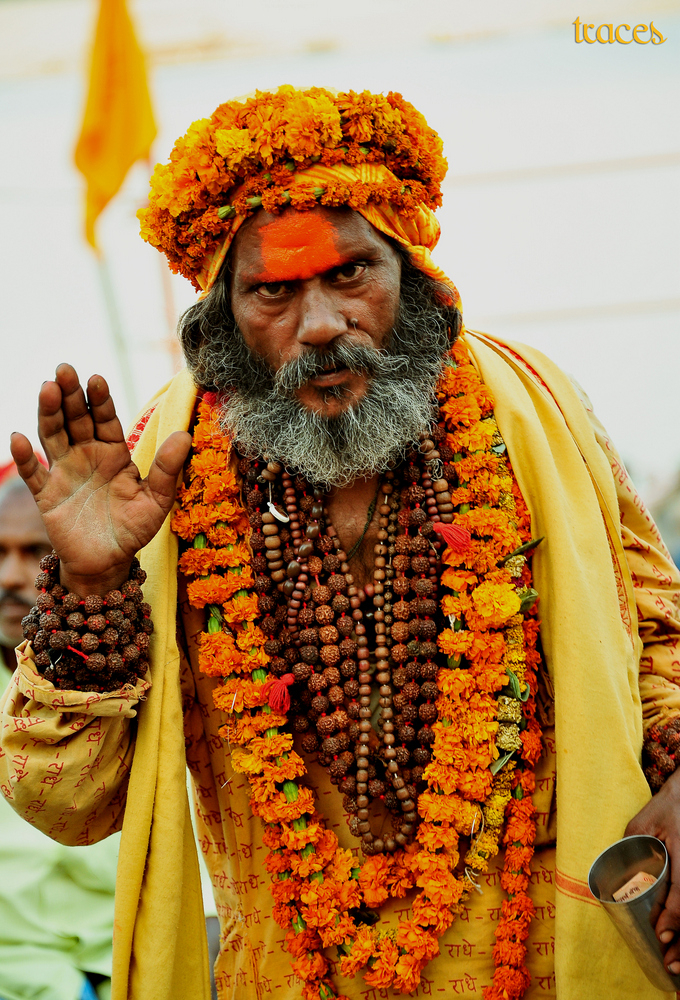 In saffron and being god like!