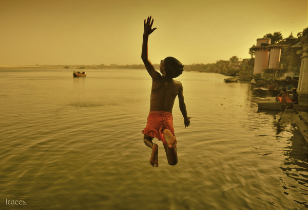 The leap into the Ganges