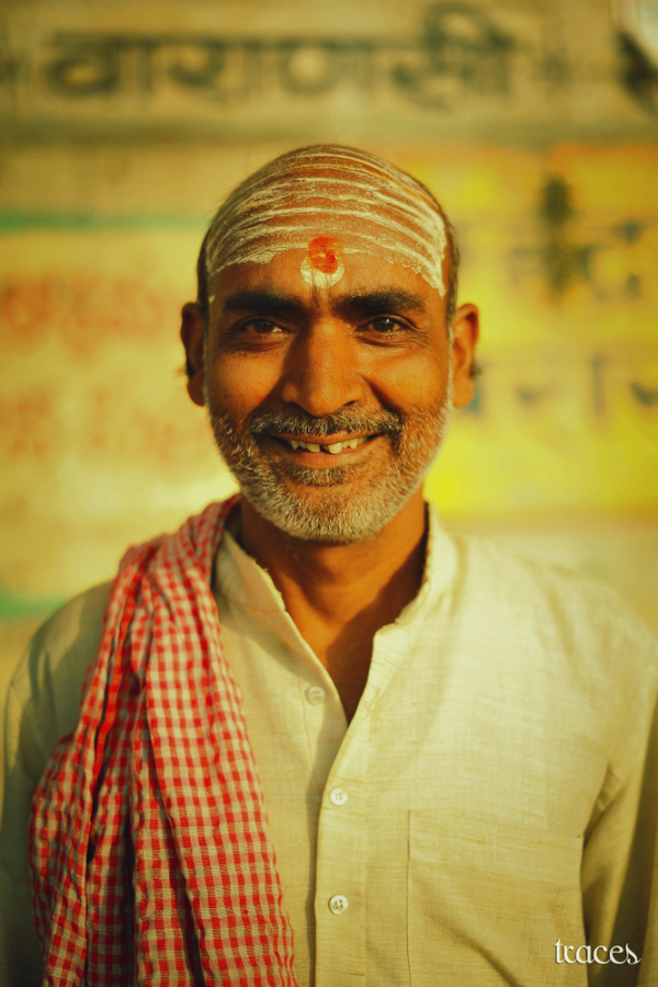 The Pandit at Munshi Ghats
