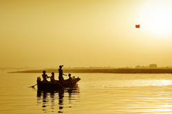 Kiteflying in Ganges