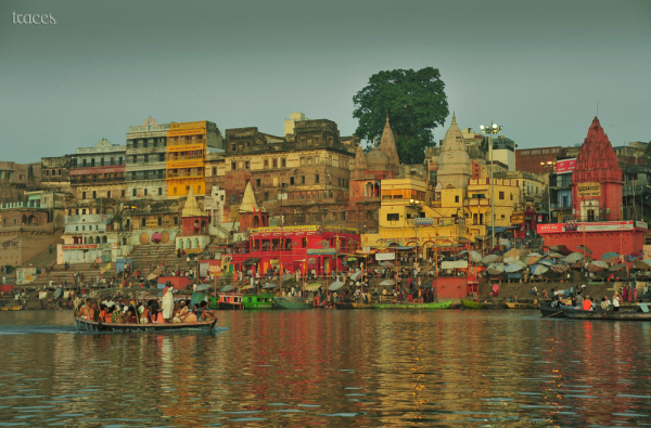 The main ghats of Varanasi