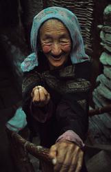 The most beautiful lady at Turtuk