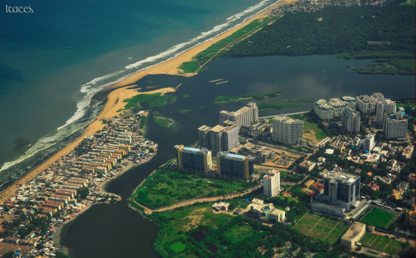 Flying above Madras, just after the rains!