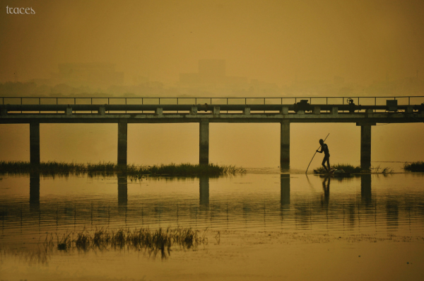 Fishing under the piers