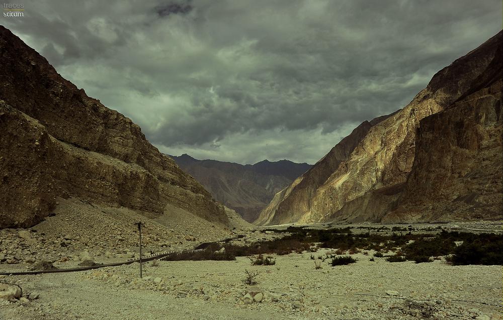 The first sight of Karakoram ranges