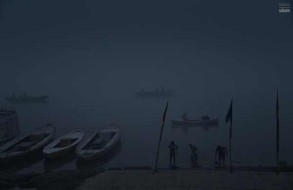 Twilight bath at the Ganges