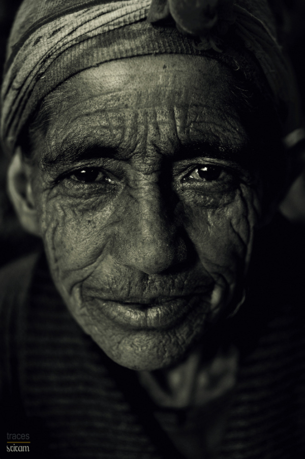 Wrinkles.. his lifelines and hardships