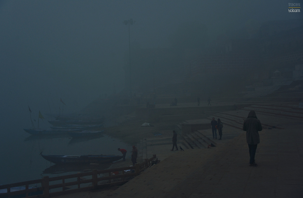 Cold morning at Assi ghats