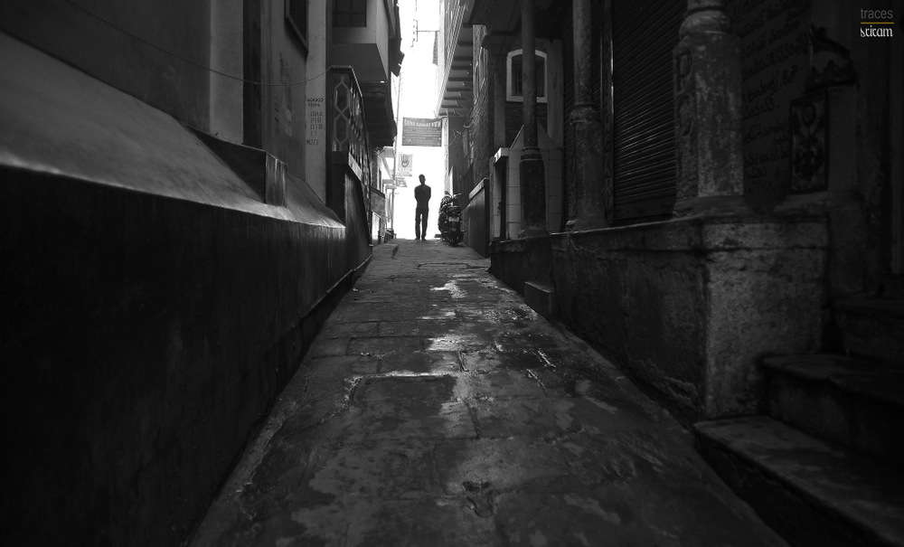 Alone in the alley