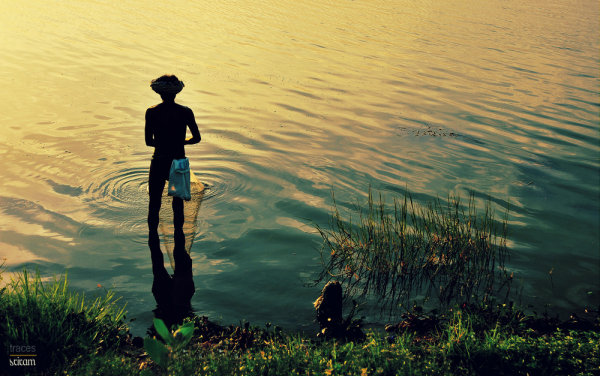 Fishing at the silky waters