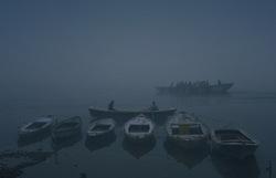Twilight boating at Ganges