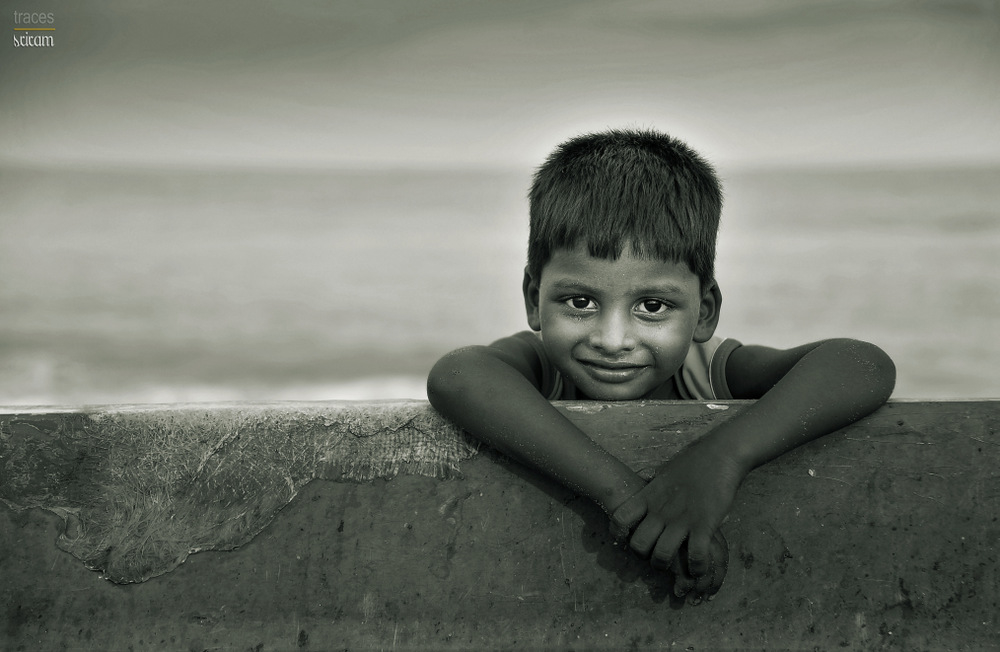 The smile of a young fisherman
