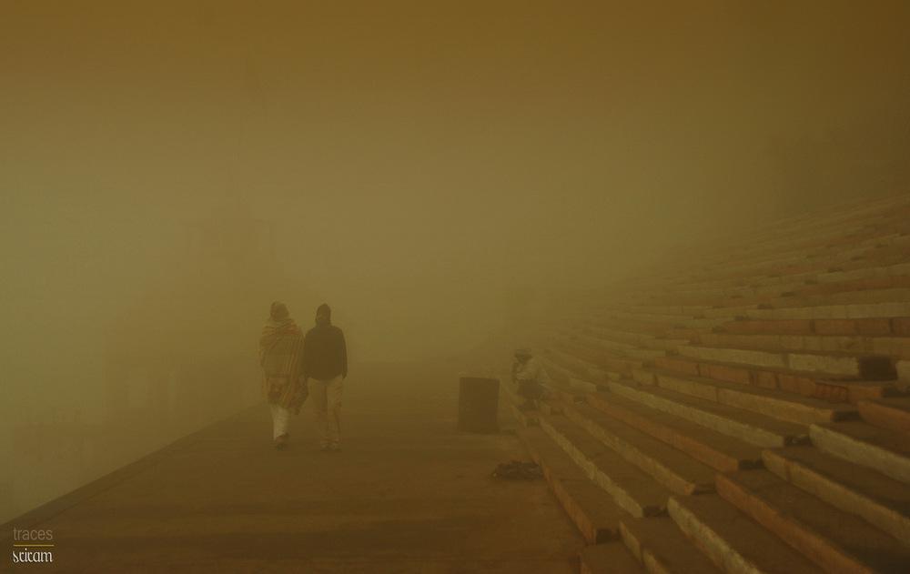 Friends in the fog